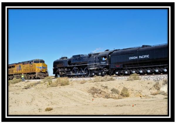 Union Pacific 844 steam engine in Southern California, November 2011