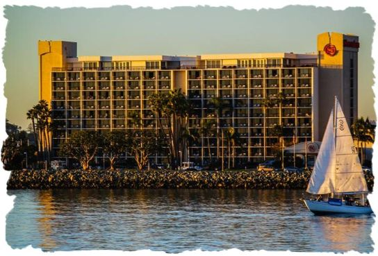 Sheraton Harbor Island as viewed from San Diego Bay