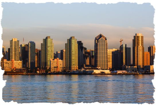Downtown San Diego as viewed from the Sheraton Harbor Island