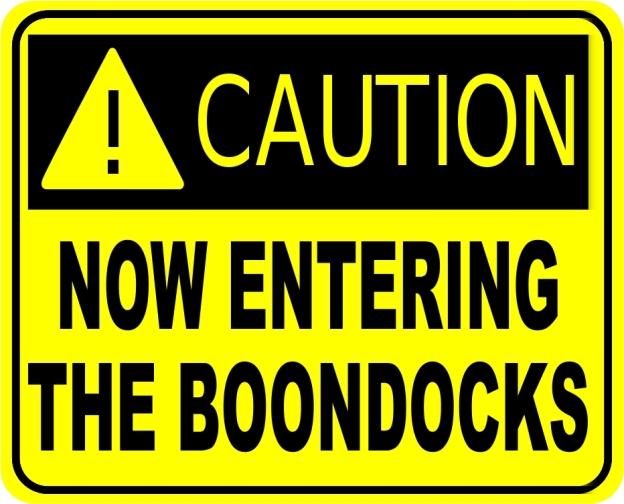 Caution: Now Entering The Boondocks