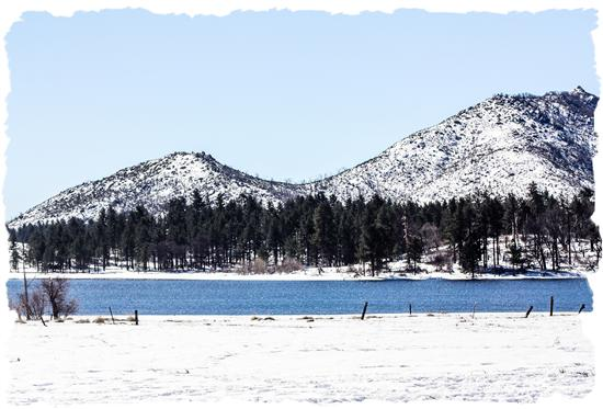 Lake Cuyamaca in San Diego County, California