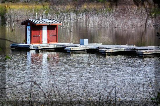 Lake and boat house