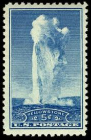 Scott #744, Yellowstone National Park