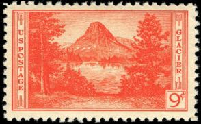 Scott #748, Glacier National Park
