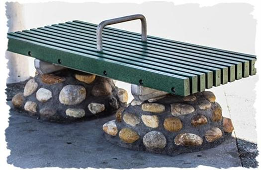 Bus stop bench