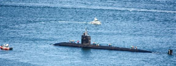 Submarine from Cabrillo National Monument