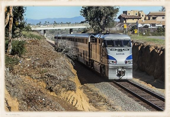 Amtrak near Solana Beach, California