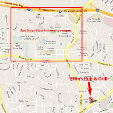 Effin's Pub & Grill, 6164 El Cajon Boulevard, San Diego CA