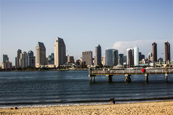 View of downtown San Diego from downtown Coronado