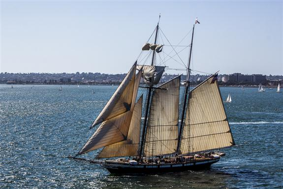The Californian, official tall ship of the State of California