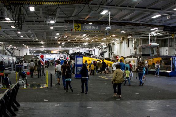 USS Midway hangar deck