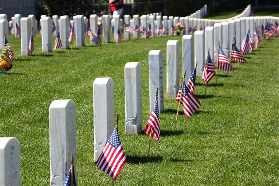 Fort Rosecrans National Cemetery in San Diego, California