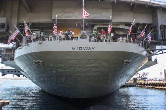 USS Midway in San Diego, California