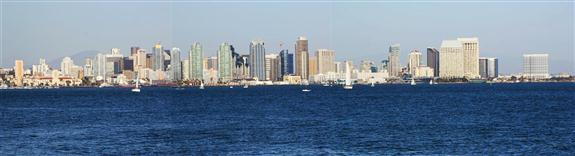 Panorama of downtown San Diego