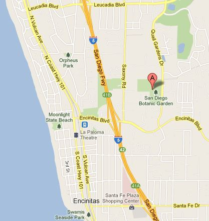 San Diego Botanic Garden map