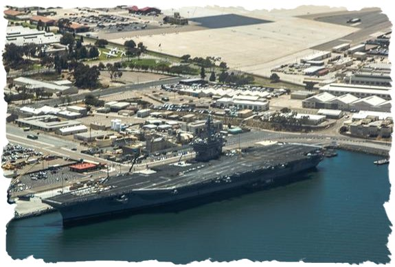 USS Carl Vinson (CVN-70) from the sky