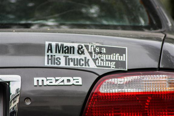 A man and his truck... It's a beautiful thing