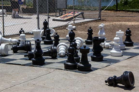 Chess set at the San Diego County Fair