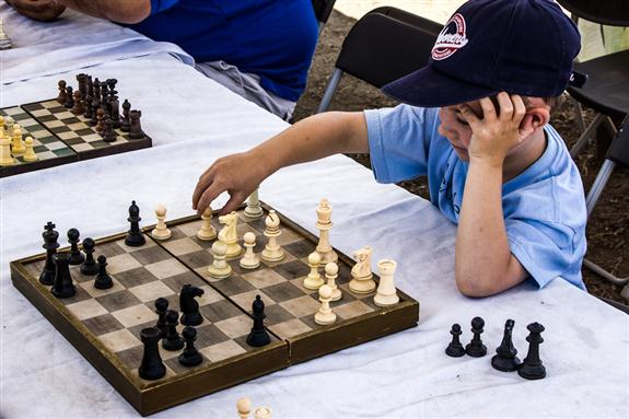 Chess-playing child at the San Diego County Fair