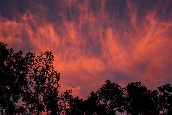 Eastern sunset in La Mesa, California