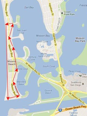 Mission Beach/Mission Bay Walk