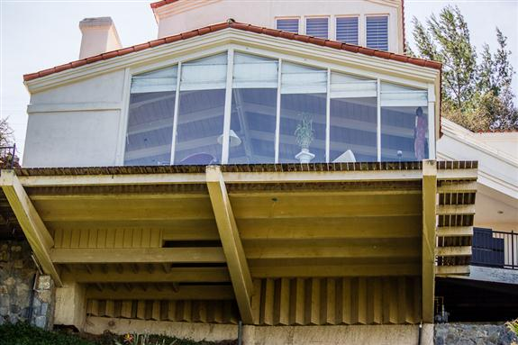Cantilevered house