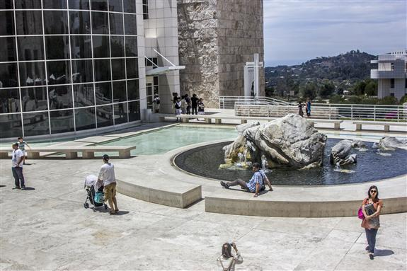 Water feature at The Getty Center in Los Angeles