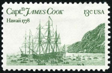 Scott #1733, Bicentennial of Captain James Cook's visit to Hawaii