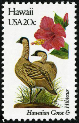 Scott #1963, Hawaii state bird and state flower