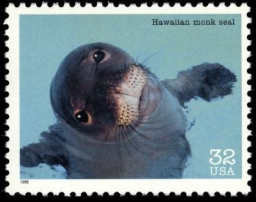 Scott #3105c, Hawaiian monk seal, 1996