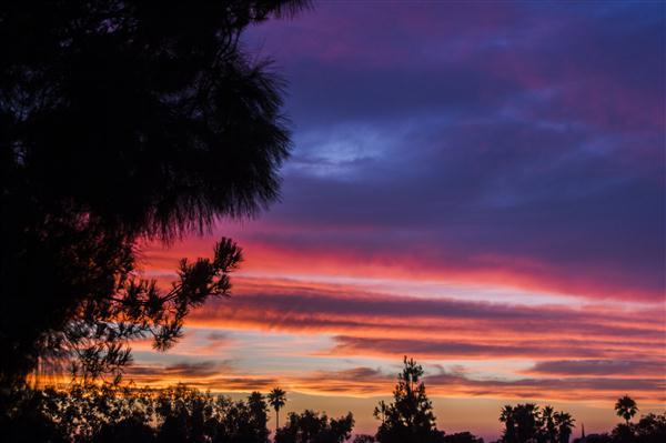 8/15/12 sunset in La Mesa, California
