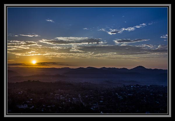 Sunrise from the top of Mount Helix in La Mesa, California