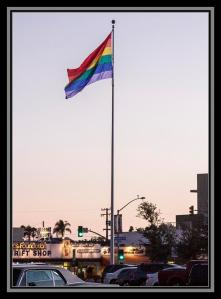 Gay flag in Hillcrest, San Diego, California