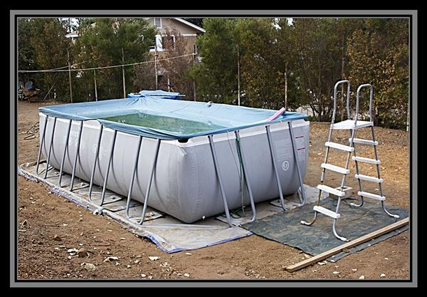 Community swimming pool in the boondocks