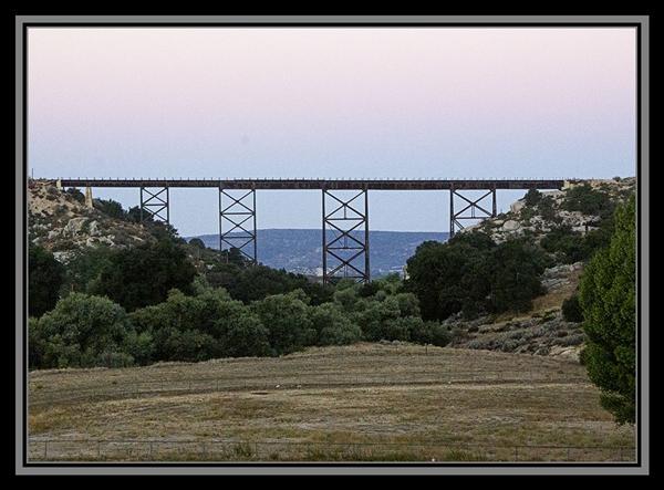 Railroad trestle, State Route 94, Campo, California