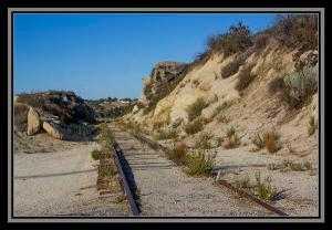 Train tracks, State Route 94, San Diego County, California