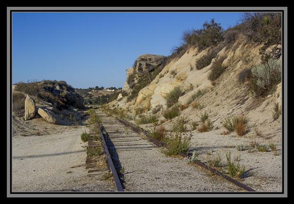 Train tracks, State Route 94, San Diego County, California