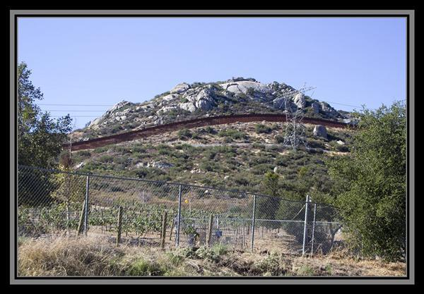 Border fence with Mexico, State Route 94, San Diego County, California
