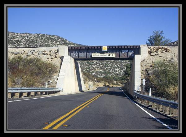 Railroad bridge, State Route 94, San Diego County, California