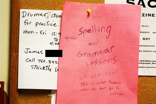 Gramma and spelling lessons