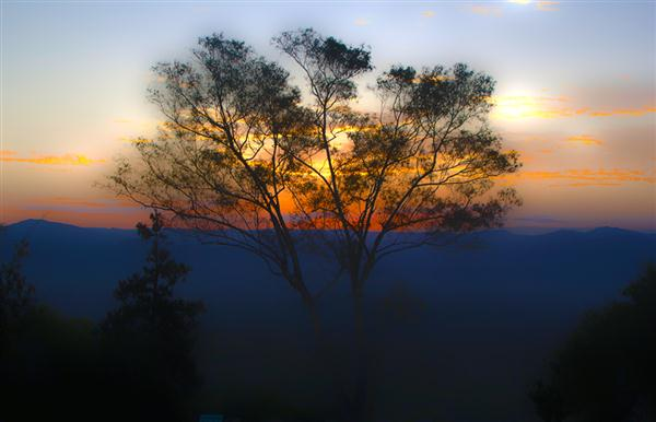 Sunrise on Mt. Helix in La Mesa, California