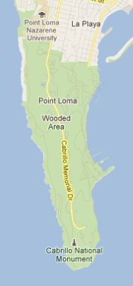 Point Loma map