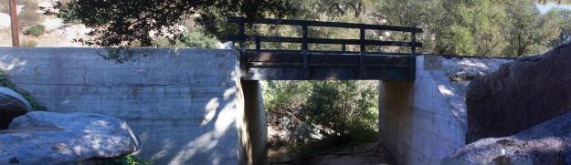 Train trestle panorama, State Route 94, San Diego County, California