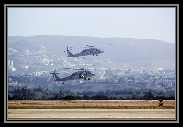 Helicopters at the Naval Outlying Landing Field in Imperial Beach, California