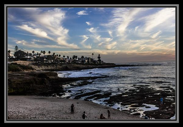 Sunset at La Jolla Cove, 10-17-12, La Jolla, California