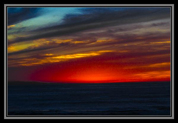 October 17, 2012, sunset in La Jolla, California