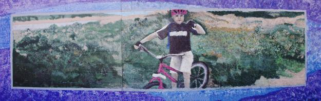 San Diego River bike path mural, San Diego, California