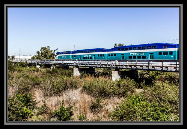 Coaster commuter train, San Diego, California