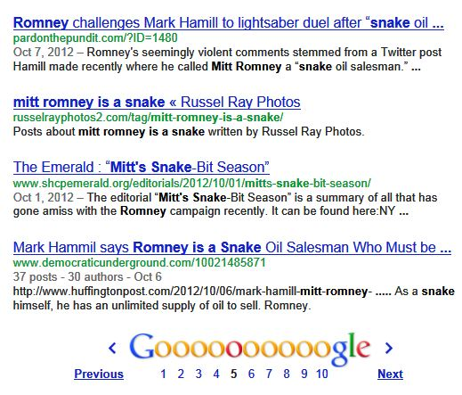 Mitt Romney is a snake, by Russel Ray Photos