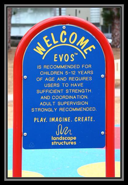 Evos landscape structure in Balboa Park in San Diego, California